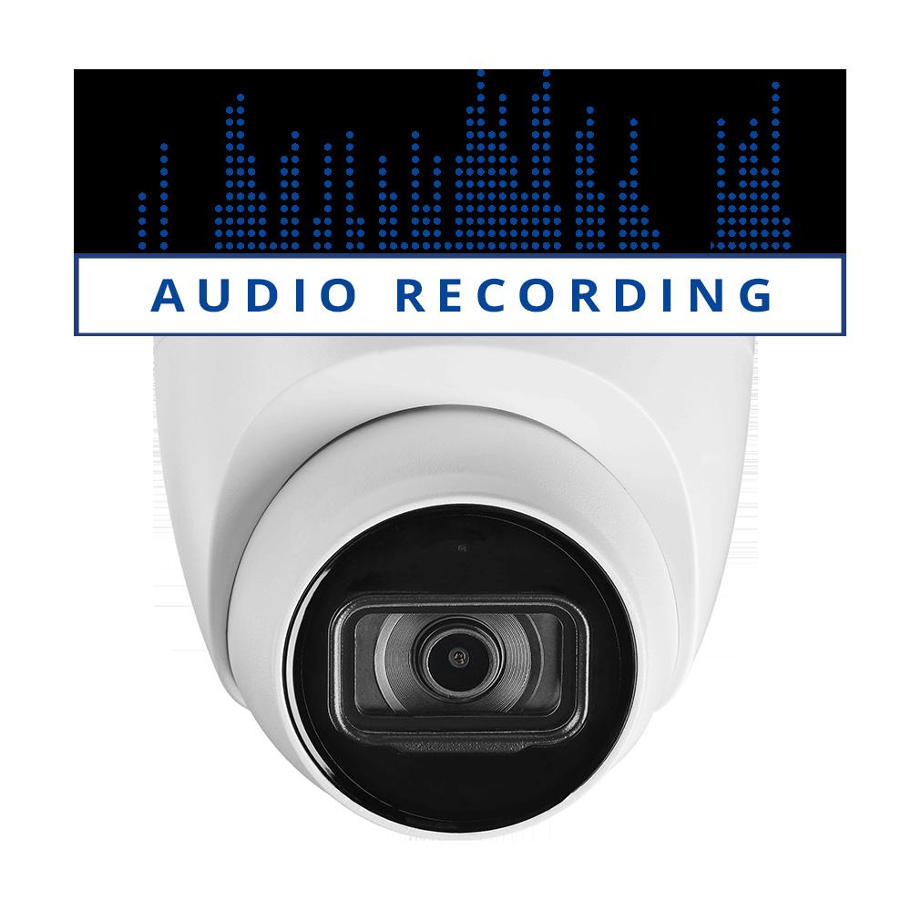 4K dome audio security camera