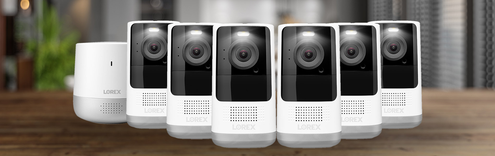 Lorex Home Hub with 6 Wire-Free Cameras