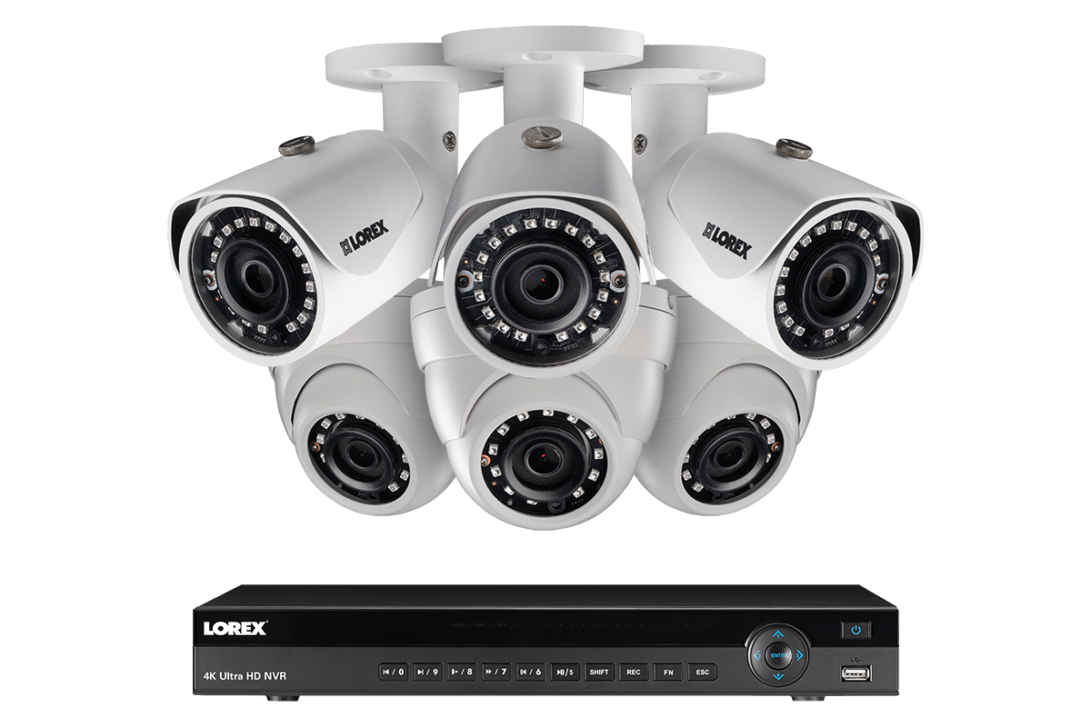 4K Ultra HD IP 8 Channel NVR System with 6 Outdoor 4K 8MP IP