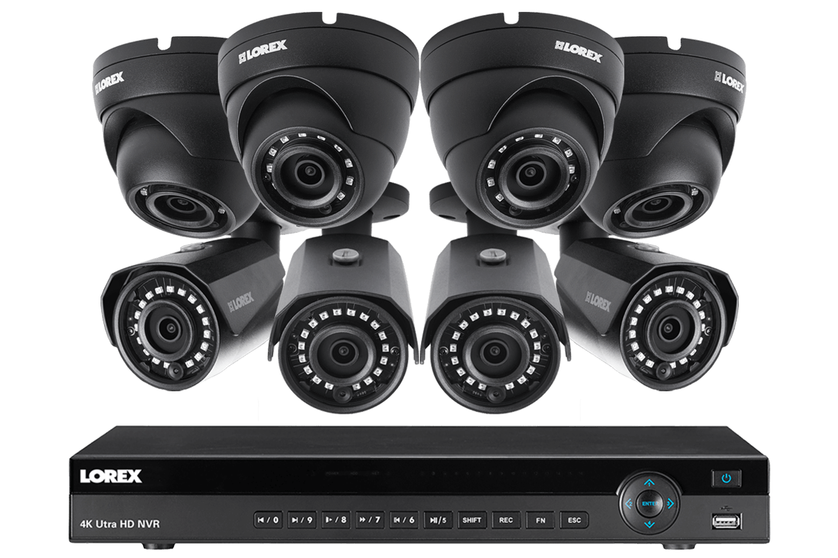 724816832b4 2K IP Security Camera System with 16 Channel NVR and 8 HD IP Outdoor 4MP  Cameras, 130FT Night Vision | Lorex