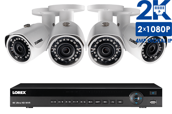 Complete IP Camera Security System featuring 8 2K Resolution