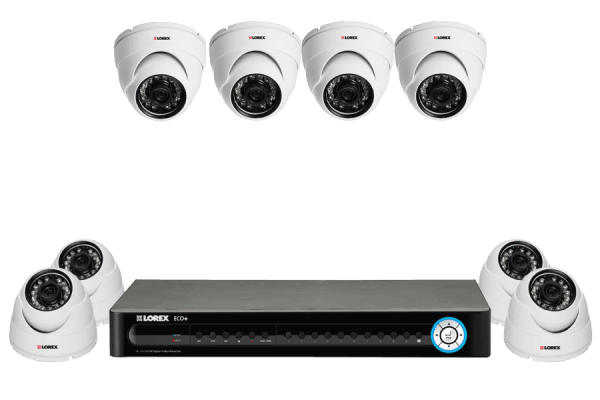 Surveillance DVR with 4 outside security cameras with night vision