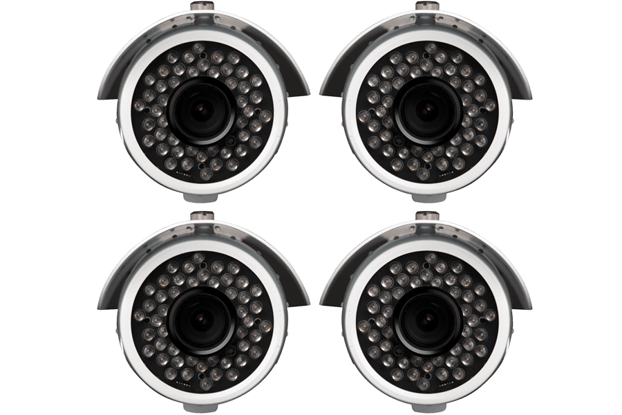 Outdoor security cameras with 600 TVL - (4 pack)