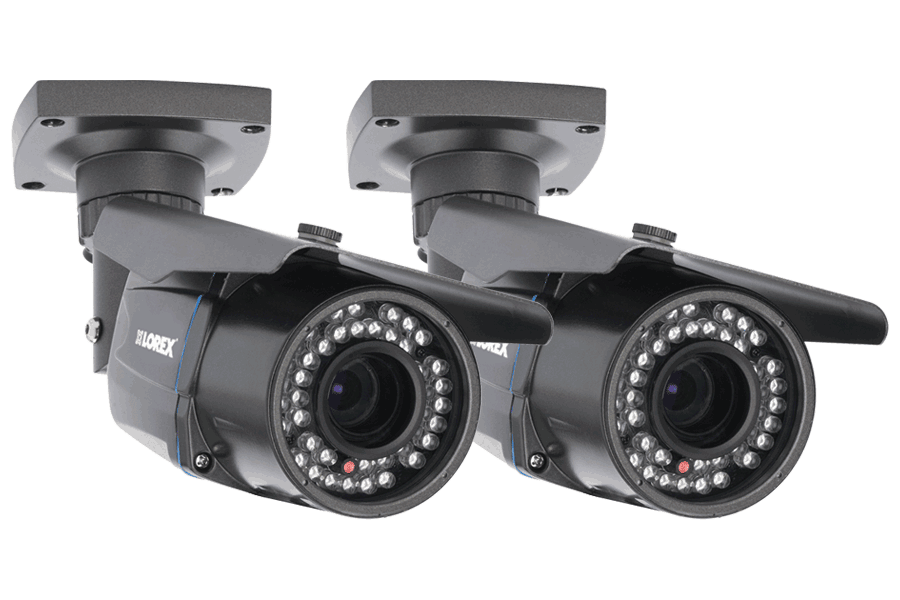900TVL Security Camera 2 Pack with Night Vision