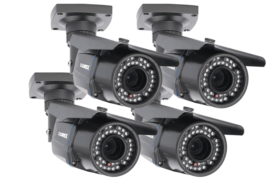 Outdoor security camera with long range night vision (4-pack)