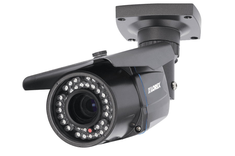 Outdoor security camera with varifocal lens - 165FT Night vision ...