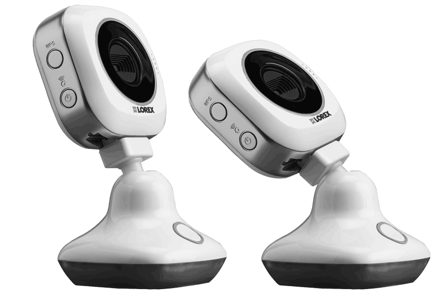 HD WiFi security cameras with remote vieiwng (2-pack)