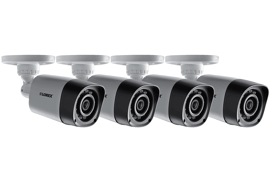 720P HD Weatherproof Night Vision Security Cameras (4-Pack)