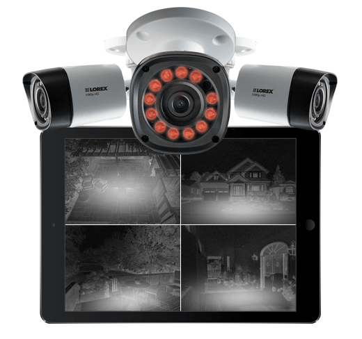 professional night vision secuirty cameras Black Firday sale from Lorex