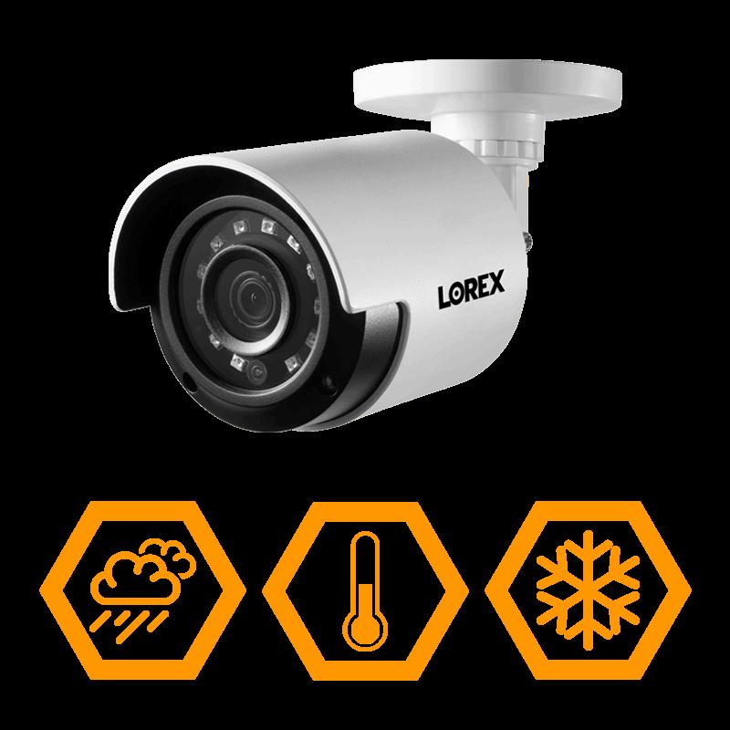 HD weatherproof security cameras IP66