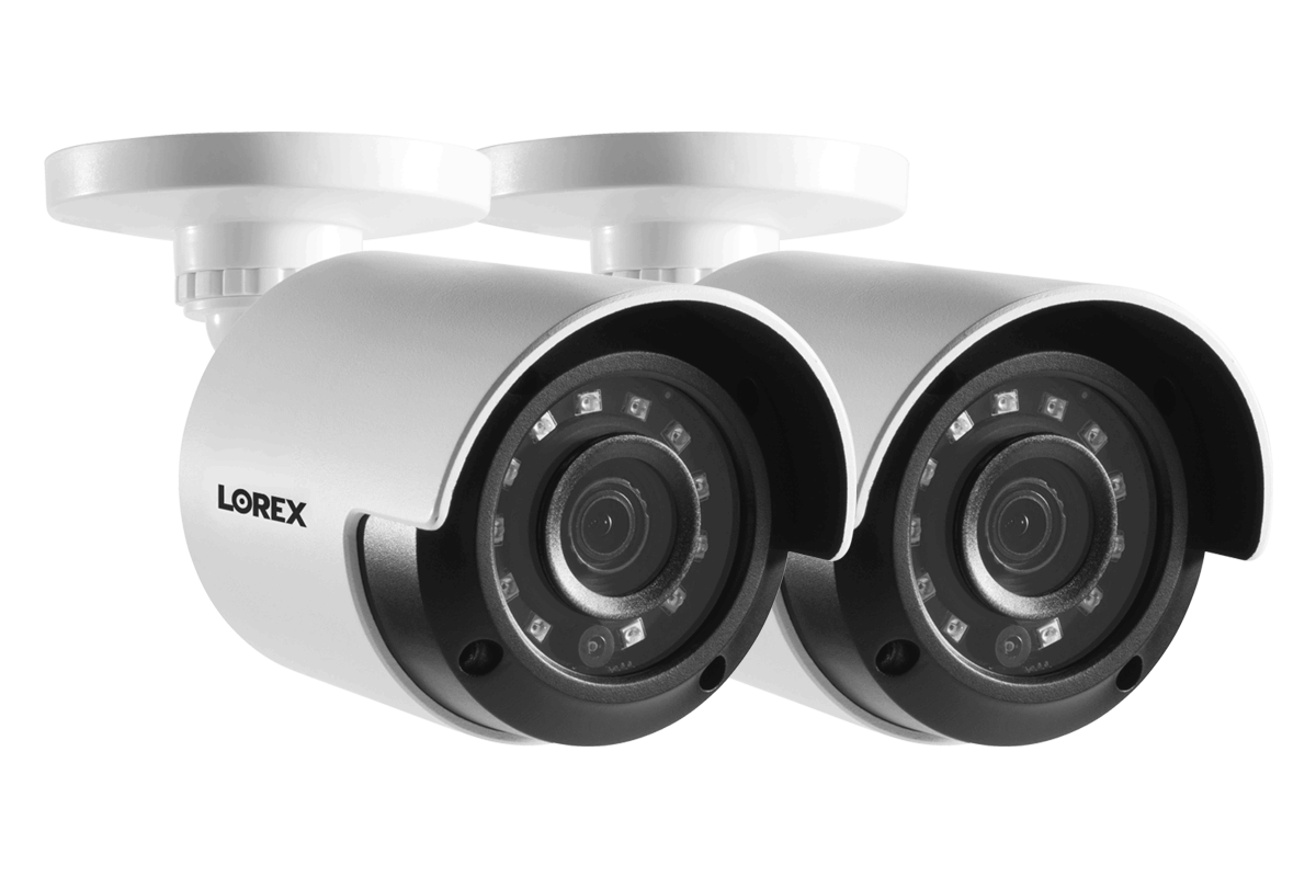 HD 1080p Home Security Cameras with 130 Night Vision 2 pack