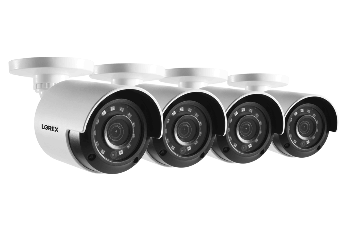 HD 1080p Home Security Cameras with 130' Night Vision (4-pack)