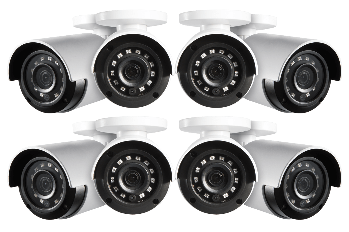 HD 1080p Home Security Cameras with 130 Night Vision 8 pack