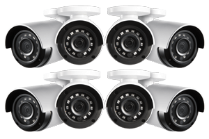 HD 1080p Home Security Cameras with 130' Night Vision (8-pack)
