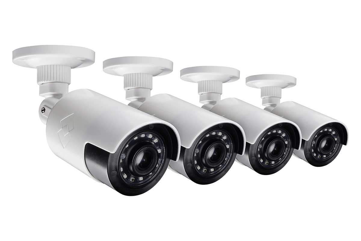 Super wide angle security cameras with 1080p HD resolution 4 pack