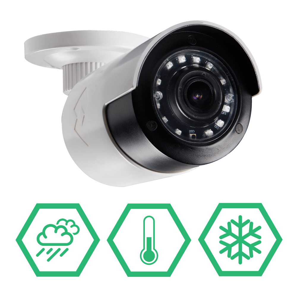 all year IP66 weatherproof rated security cameras