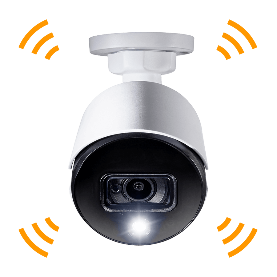 Active deterrence security camera