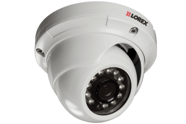 Outside security camera dome with night vision