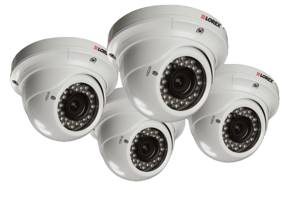 Outdoor security camera varifocal vandal dome
