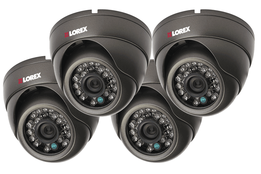 Outdoor security camera varifocal 700TVL domes - 4 Pack