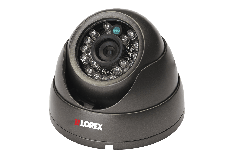 Outdoor dome security camera with varifocal lens - 155FT Night vision