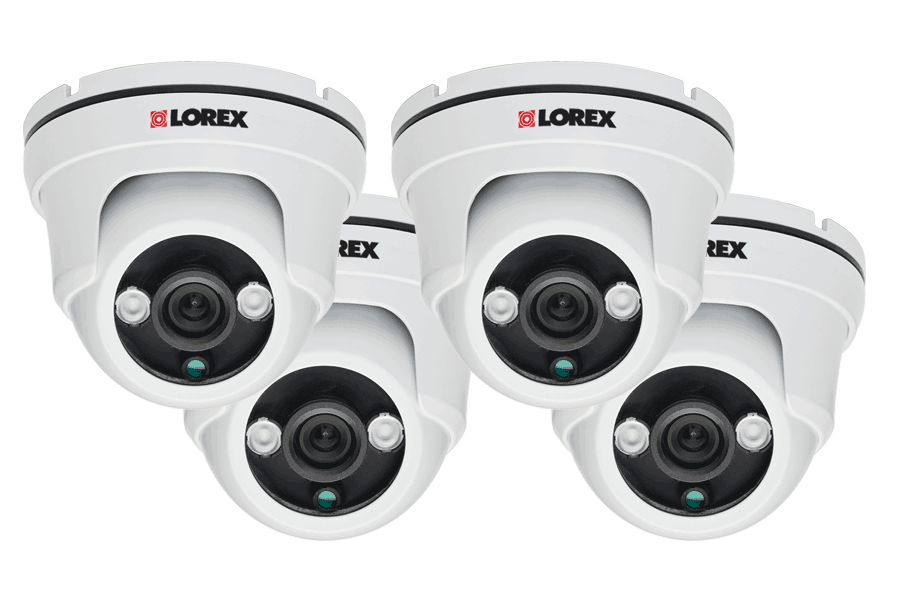 960H weatherproof night vision security cameras - 4-pack