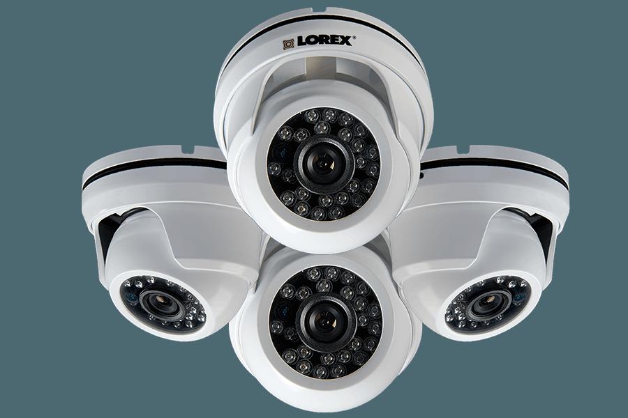 900TVL Weatherproof Night Vision Dome Security Cameras