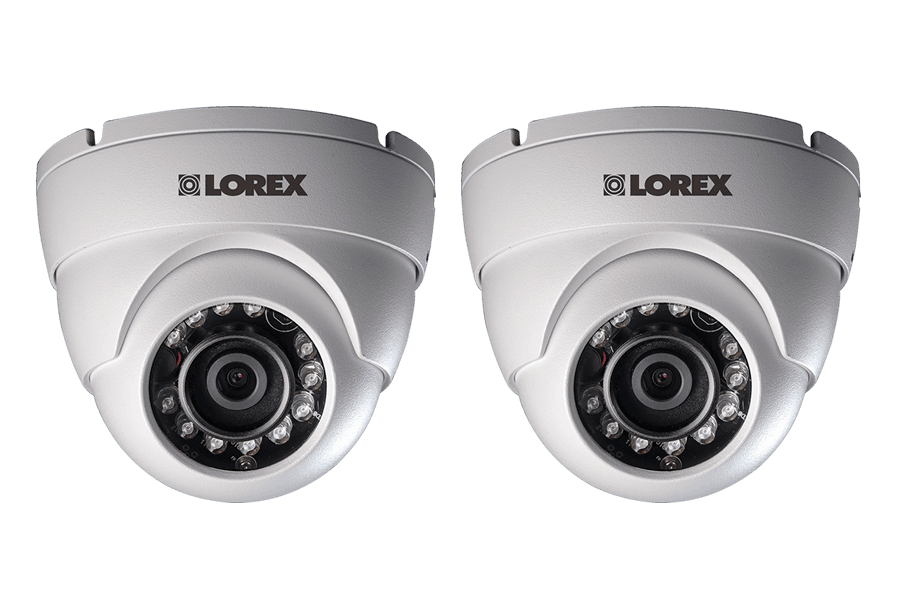 720P HD Weatherproof Night Vision Security Dome Camera (2-Pack)