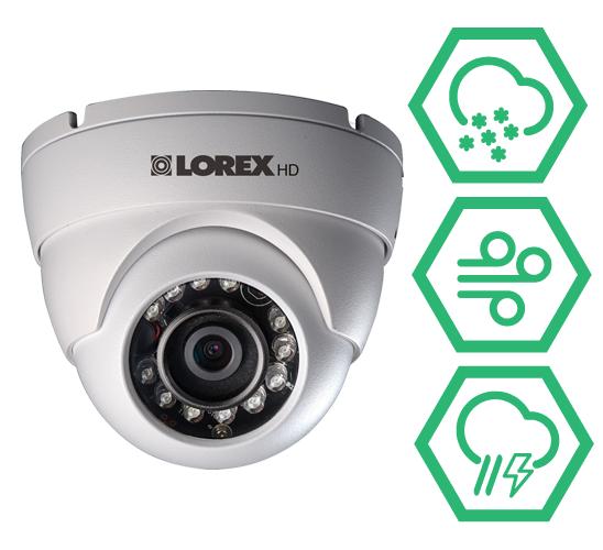 LEV2522B weatherproof dome security cameras