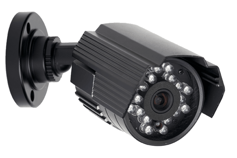 Video security system with indoor and outdoor cameras