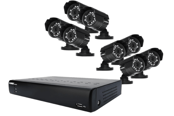 8 channel security camera system with indoor and outdoor cameras
