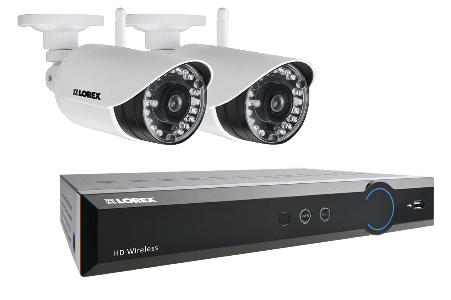 LH041 Eco Series 4-Channel Security Camera System with Weatherproof Wireless Cameras