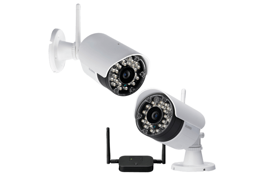 Wireless Camera System with 4 Outdoor 720p Wireless Cameras, 120FT ...