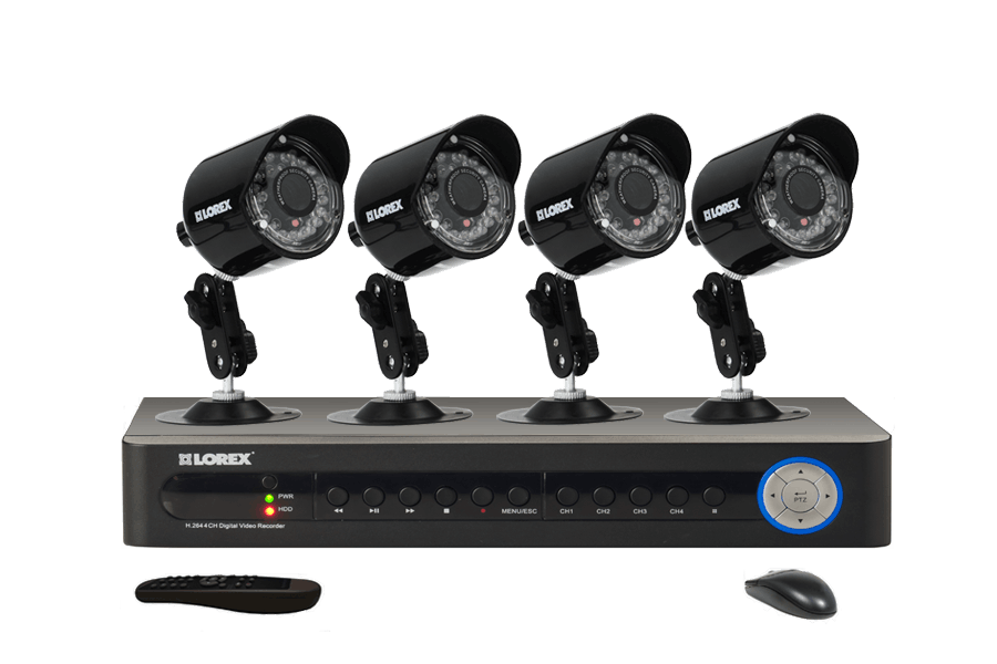 Night security camera systems