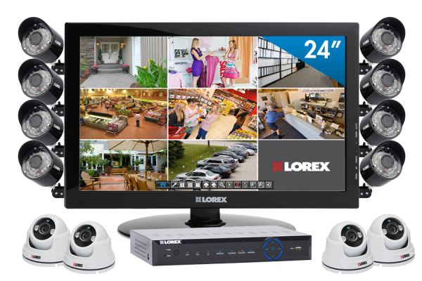 Video security camera system for home or business