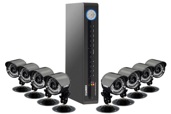 DVR security camera system with 8 Night vision security cameras