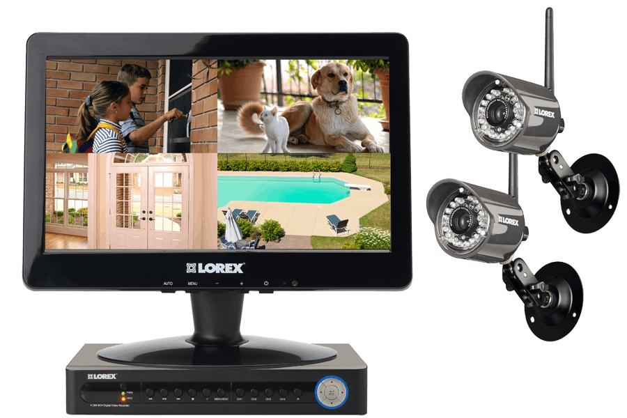 DVR Wireless camera system with wireless cameras and monitor ECO 4ch LED series