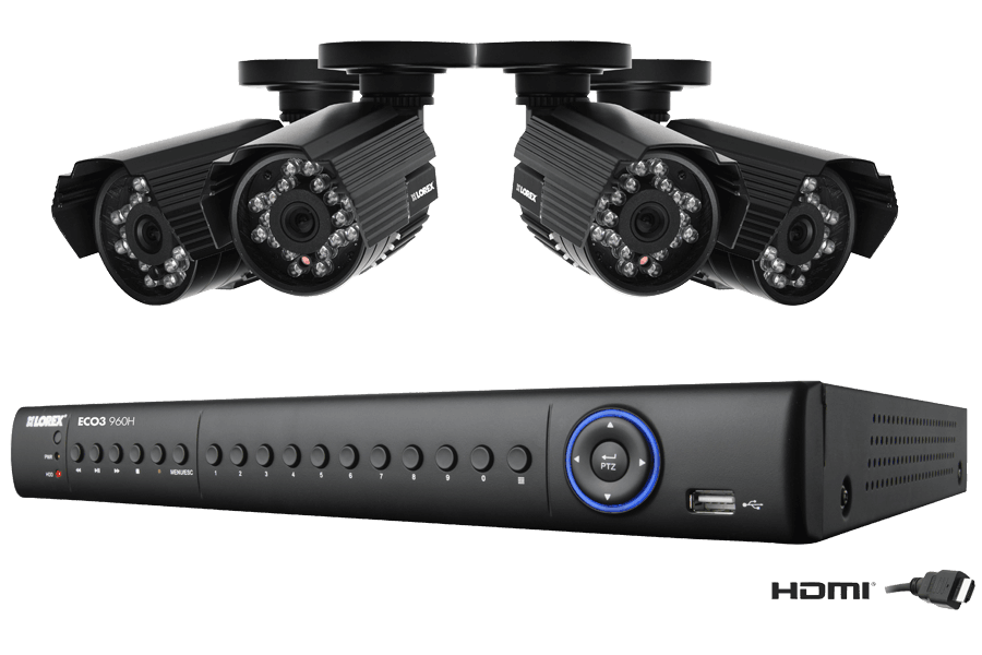 8 Channel Eco3 security system with 960H recording resolution