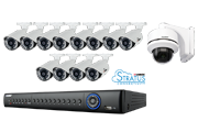 Lorex 16 Channel ECO4 Stratus 960H DVR Security System with 2TB HDD and 13 700TVL Cameras - LH15612Z120B