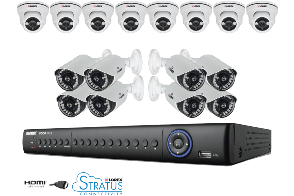 Lorex 16 Channel Eco4 Stratus 960H Security System with 2TB HDD and 16 700TVL Cameras - LH1561620B