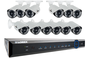 ECO6 24-Channel Real-time 960H Security DVR with 900TVL Weatherproof Bullet Cameras