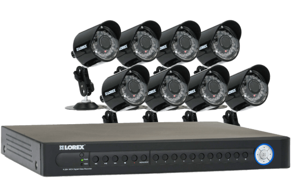 16 channel security DVR system with 8 cameras