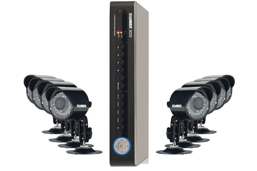 security camera dvr system eco2 series 8 channel lorex rh lorextechnology com Lorex LH110 Eco Series Lorex App Windows