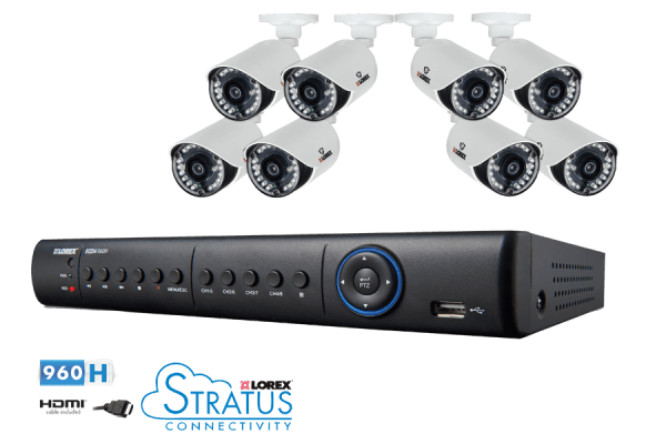 Lorex 8 Channel Full 960H Security System with 1TB HDD and 8 700TVL Cameras - LH1896