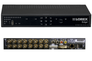 16 channel security DVR with H.264 compression and remote viewing