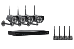 Wireless surveillance camera system with wireless camera and monitor