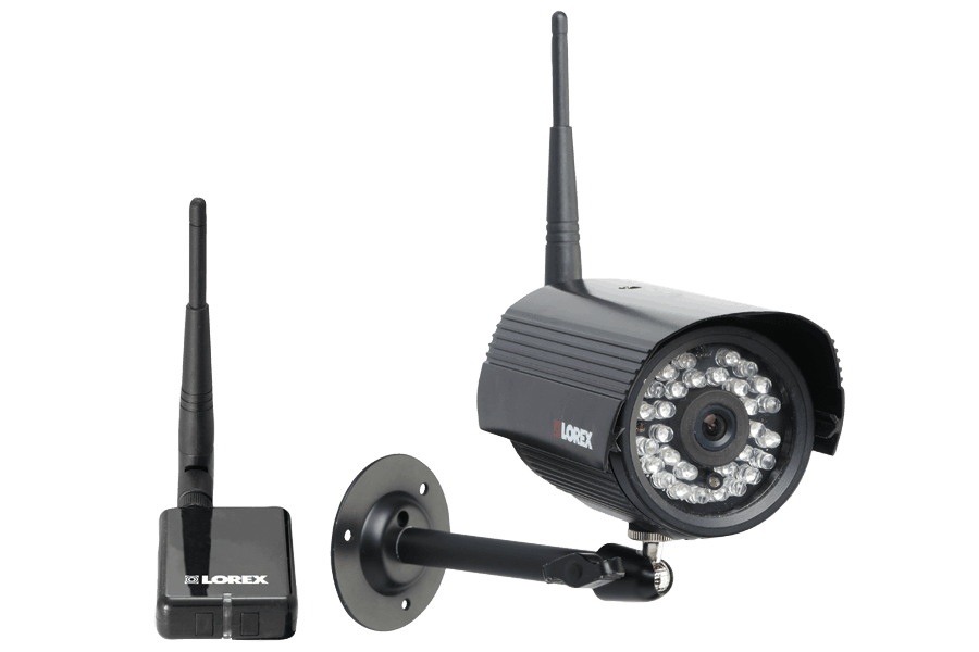 Wireless surveillance camera system with wireless camera and ...