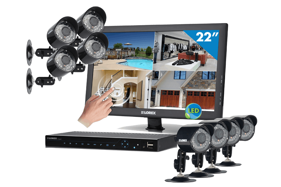 Complete security camera system with outdoor security cameras Edge2 DVR series
