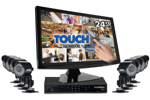 Security system with security camera and touch monitor Edge+ series