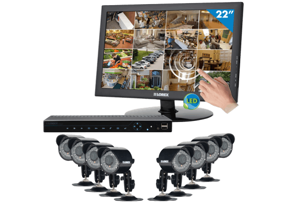 Security camera surveillance system with touch monitor Edge2 DVR series